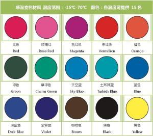 感温变色水乳液 绿色,蓝色,红色,黄色