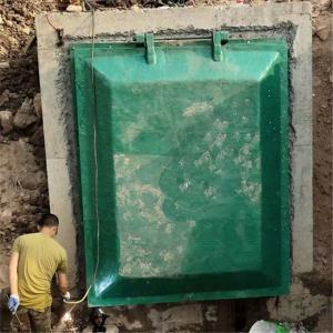涵洞1600*1600复合玻璃钢拍门 树脂防倒灌止回阀 排水口单向阀