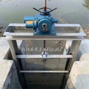 河北闸门厂 水闸厂 CBZ手动渠道插板闸门 BQZ电动不锈钢渠道闸门