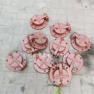 宇东水利 水库卧管放水铸铁拍门DN100 圆形铸铁拍门止回阀 水库台阶下水管拍门