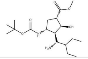 1S,2S,3S,4R)-3-[(1S)-1-氨基-2-乙丁基]-4[[(1,1-二甲基乙氧基)羰基]氨基]-2-羟基环