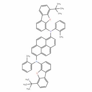 1,6-Pyrenediamine,N1,N6-bis[6-(1,1-dimethylethyl)-4-dibenzofuranyl]-N1,N6-bis(2-methylphenyl)- CAS号:1438391-43-5 现货优势供应 科研产品