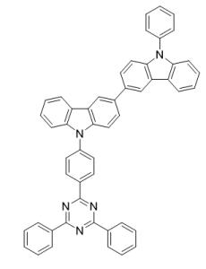 3,3'-Bi-9H-carbazole, 9-[4-(4,6-diphenyl-1,3,5-triazin-2-yl)phenyl]-9'-phenyl- CAS号:1345338-65-9 现货优势供应 科研产品