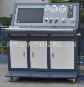 济南液压胶管水压爆破试验机生产 耐压爆破测试机 适用范围广